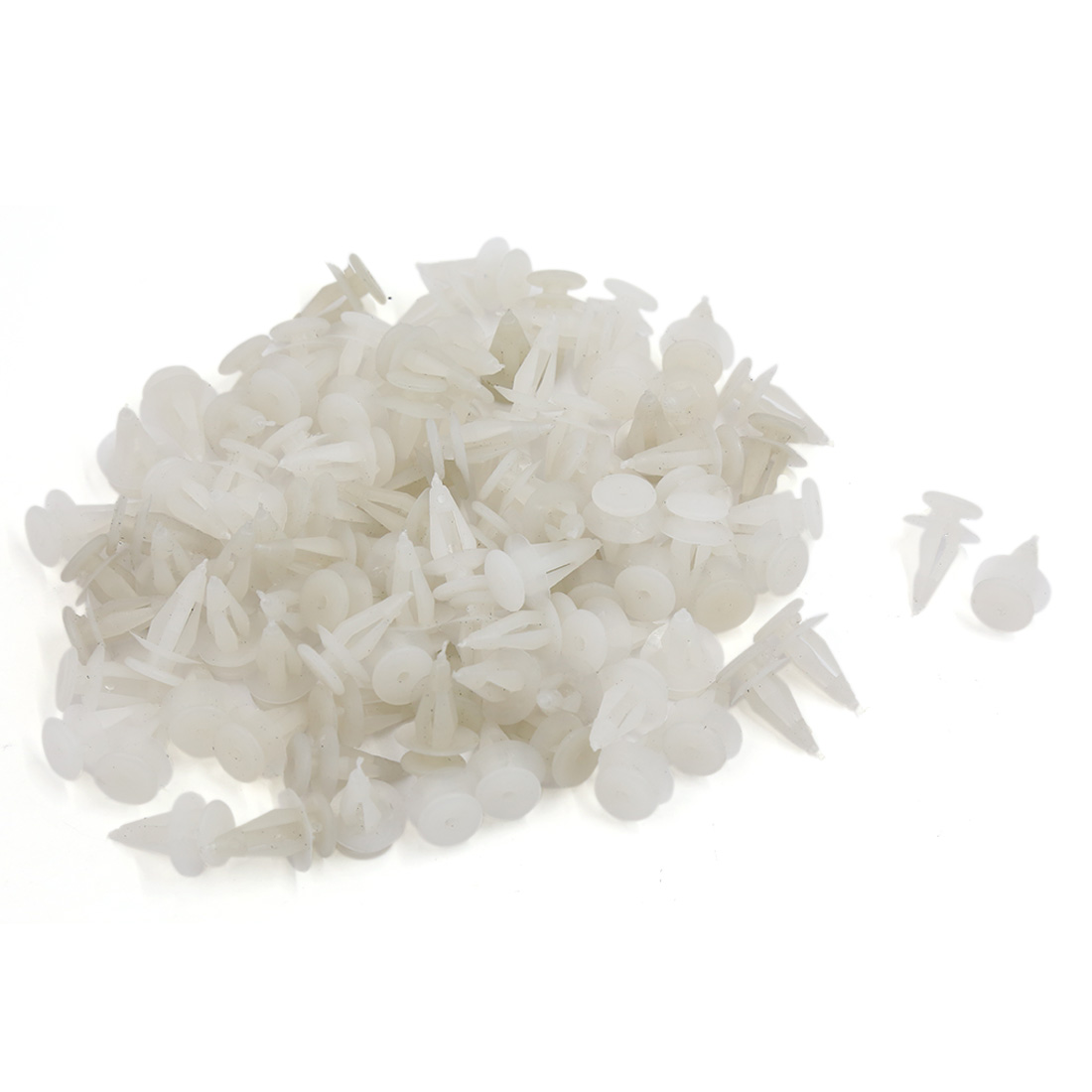 100 Pcs 7mm Sealing Nails White Plastic Rivet Buckle Clips