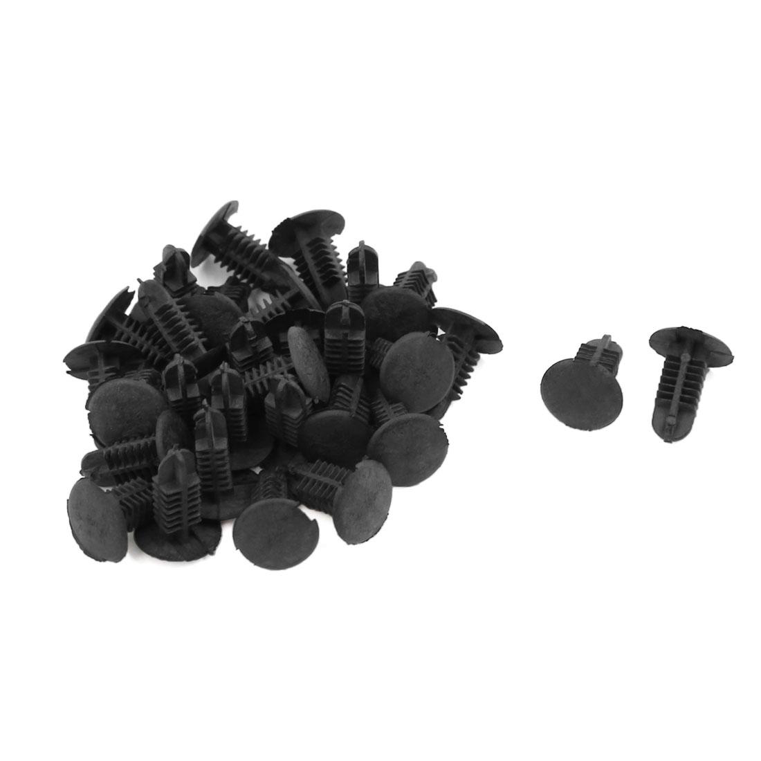 30 Pcs Black Plastic Splash Guard Moulding Bumper Clips 6mm x 5mm