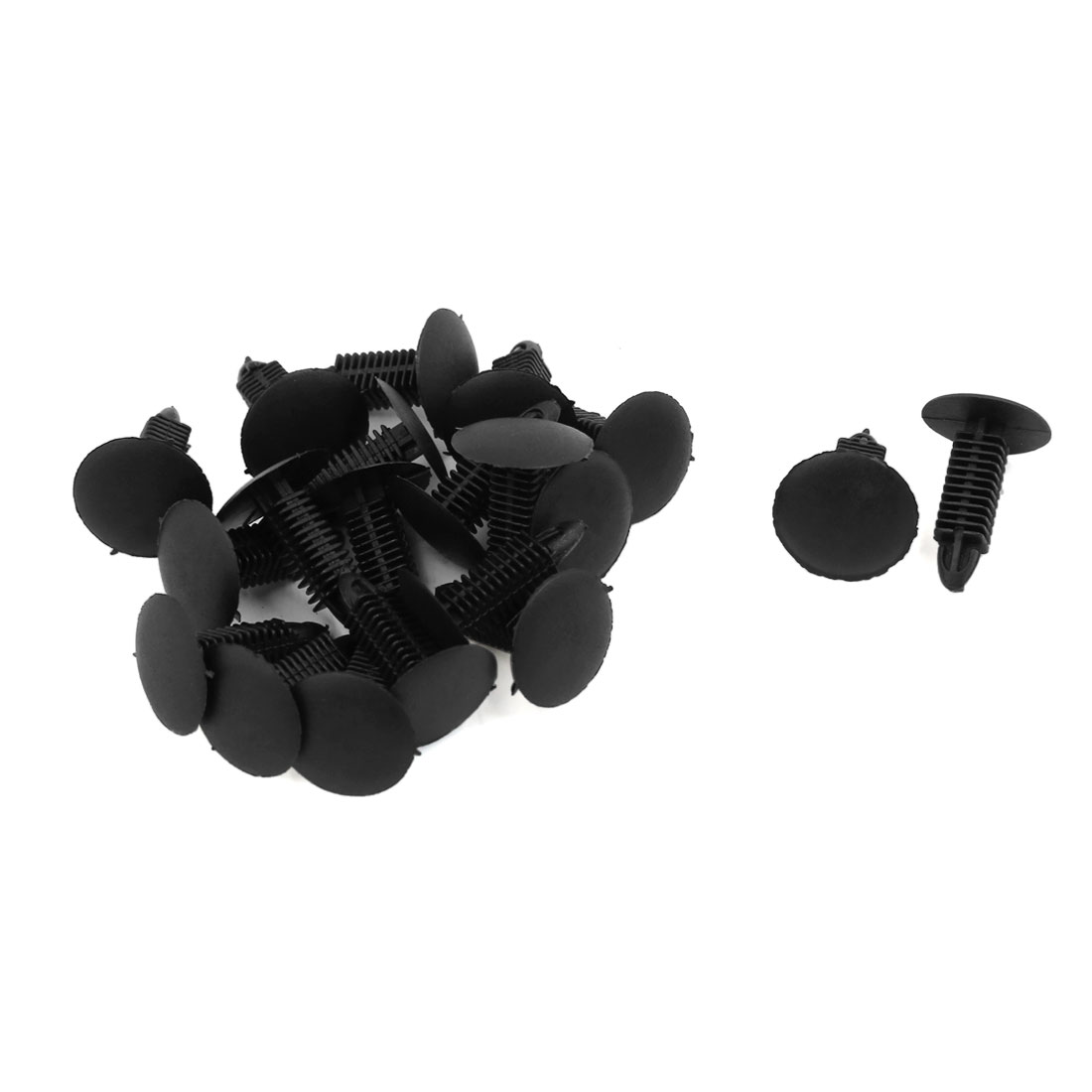 20 Pcs Black Plastic Splash Guard Moulding Bumper Clips 7mm Hole Dia