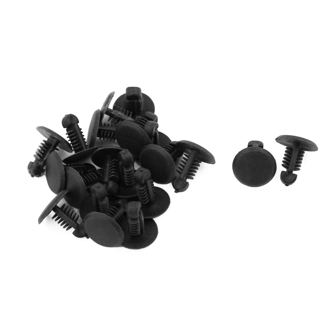 20 Pcs Black Plastic Door Trim Moulding Bumper Clips 6.5mm x 5mm