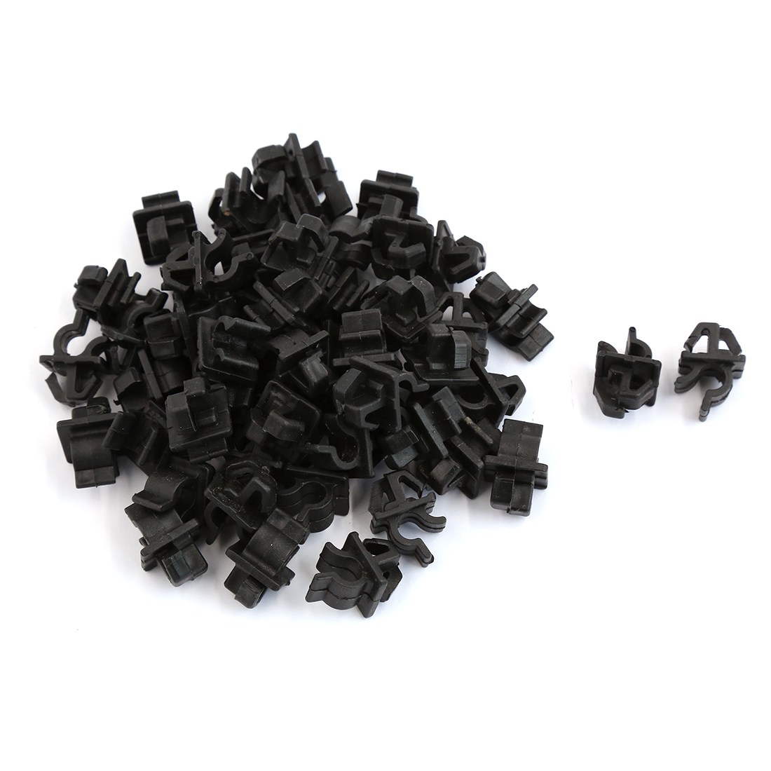 50 Pcs Black Plastic Engine Bracket Fastener Mat Rivet Clips