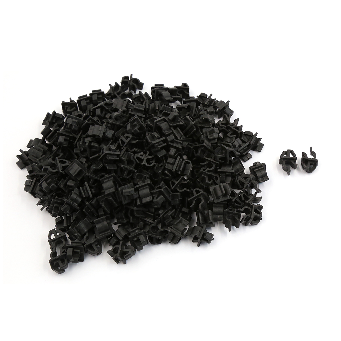 200 Pcs Black Plastic Engine Bracket Fastener Mat Rivet Clips