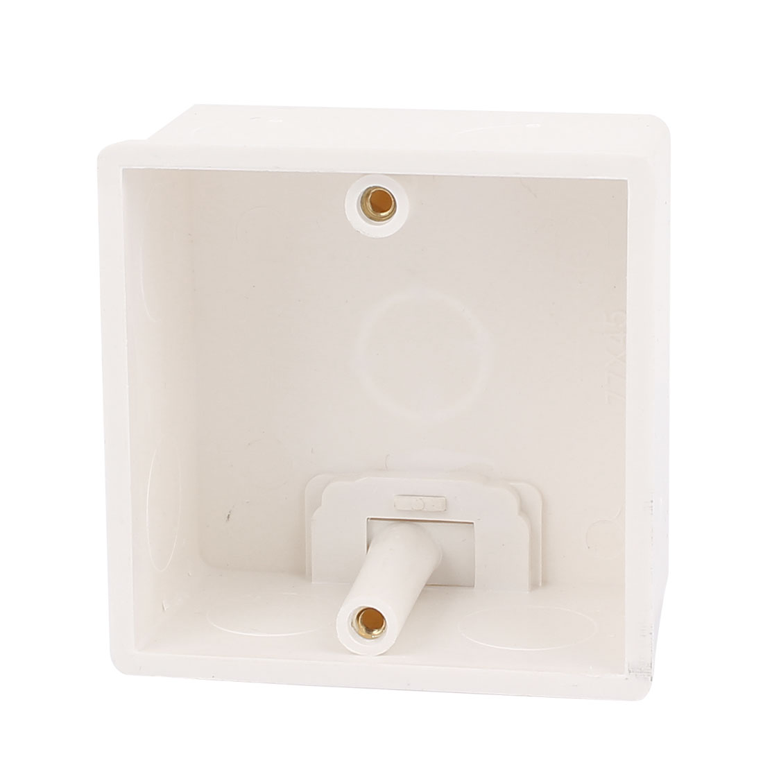 77mmx77mmx43mm Square Shape Wall Mounted Light Plastic Switch Junction Box