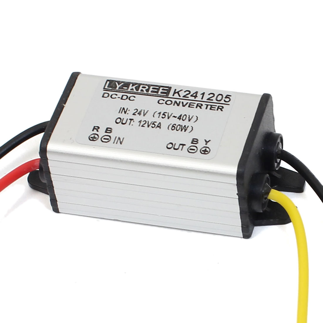 DC 24V(15V-40V) to DC 12V 5A 60W Power Converter Regulator Waterproof Electronic Transformer
