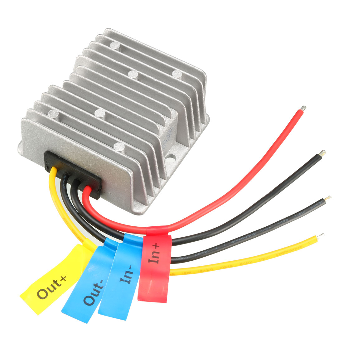 uxcell Power Converter Regulator DC 12V(10V~30V) Step-Up to DC 48V 2.1A 100W Waterproof Voltage Convert Transformer