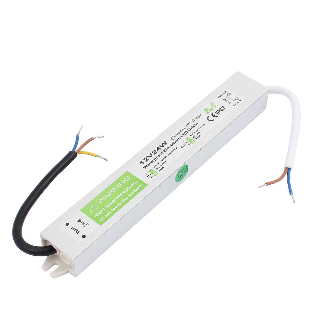 AC 90-250V to DC12V 24 Watt Transformer IP67 Waterproof LED Driver Power Supply
