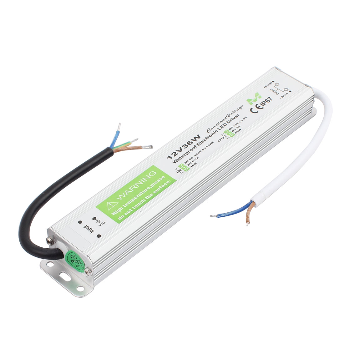 AC 90-250V to DC12V 36 Watt Transformer IP67 Waterproof LED Driver Power Supply