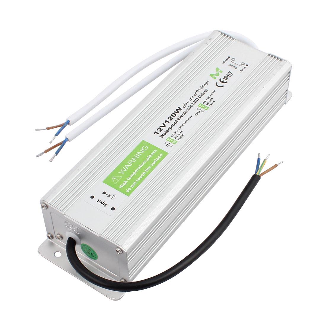 AC90~250V to DC12V 150 Watt Transformer IP67 Waterproof LED Driver Power Supply