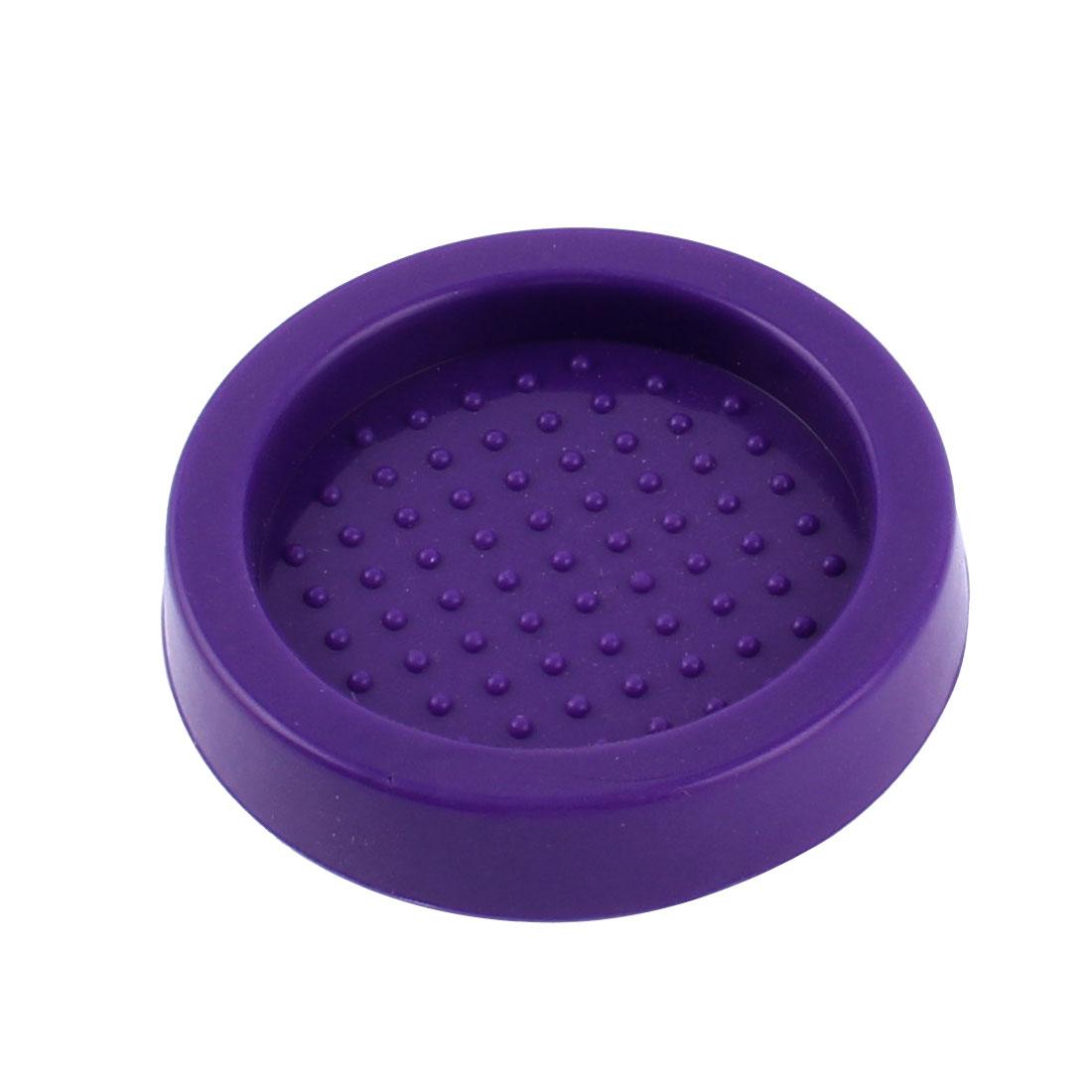 Purple Rubber Round 60mm Dia Coffee Tamper Base Seat Holder Tamping Mat Pad