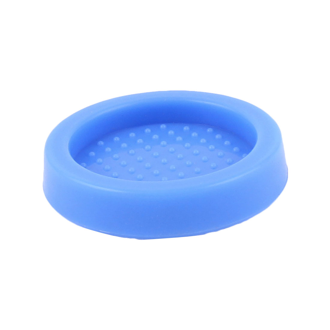 Blue Rubber Round 60mm Dia Coffee Tamper Base Seat Holder Tamping Mat Pad