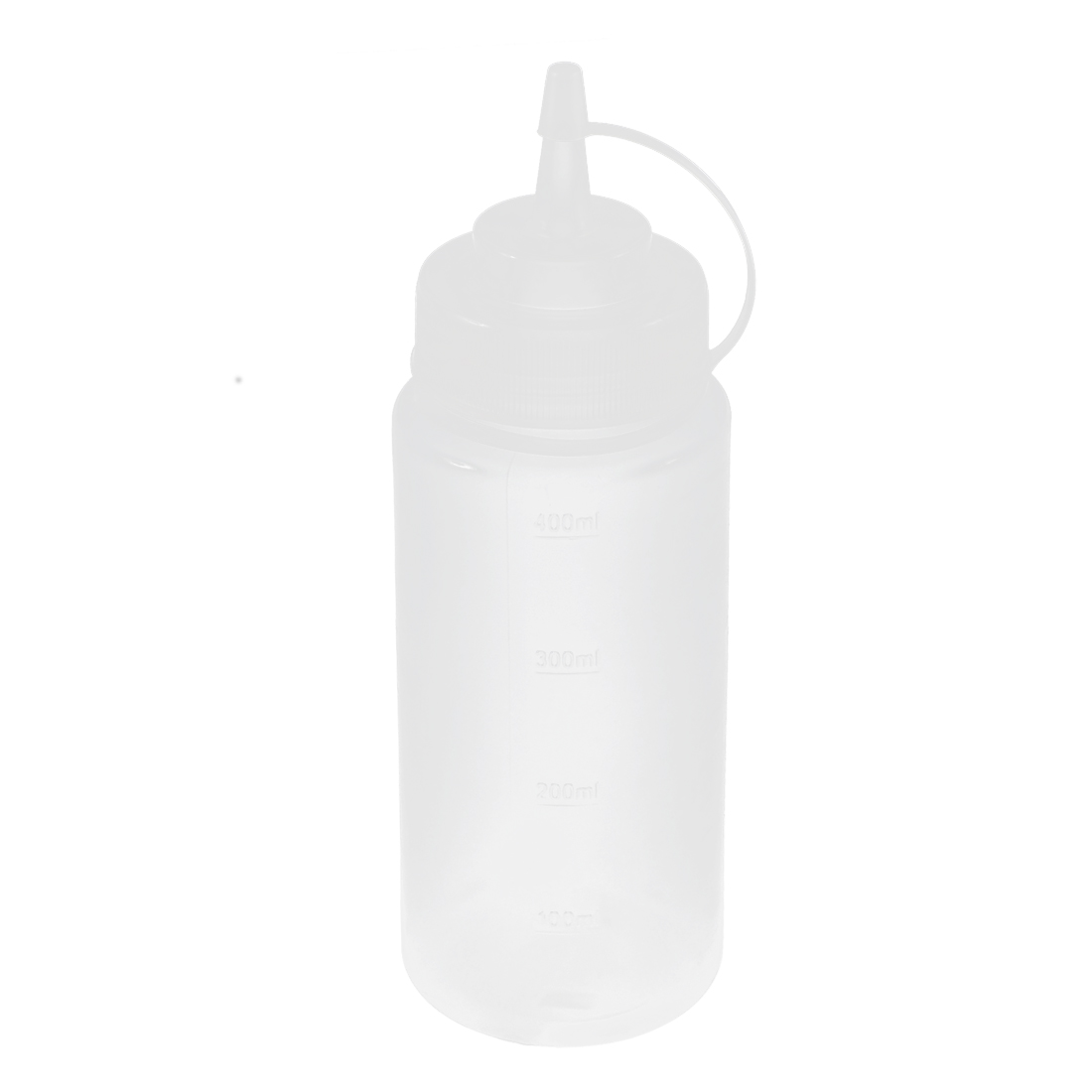 Plastic Squeeze Bottle Ketchup Mustard Condiment Dispenser 16oz Clear