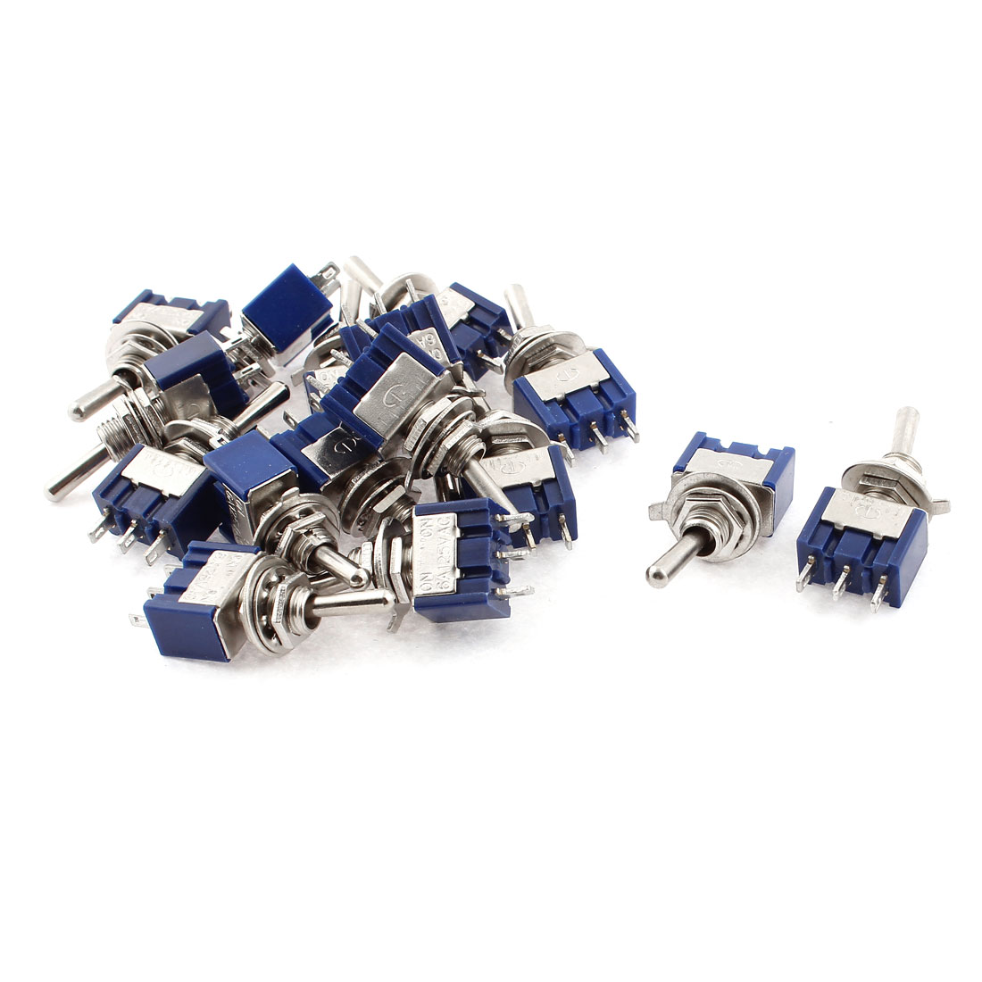 AC 125V 6A SPDT 2 Positions ON/ON 6mm Dia Thread 3 Terminals Toggle Switch 16pcs