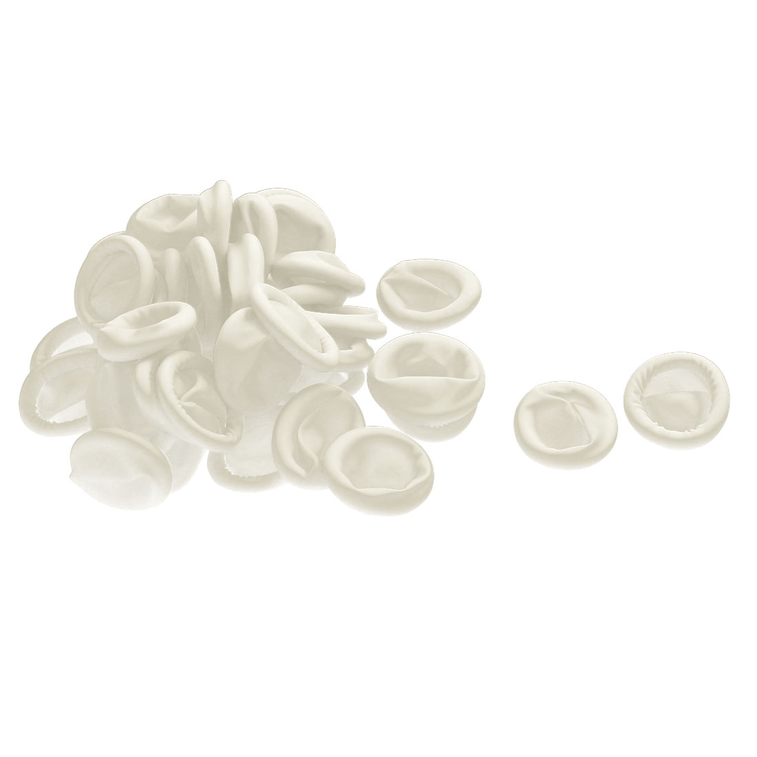 Latex Elastic Rolled Finger Tip Cot Cover Protector Shield Off White 40pcs
