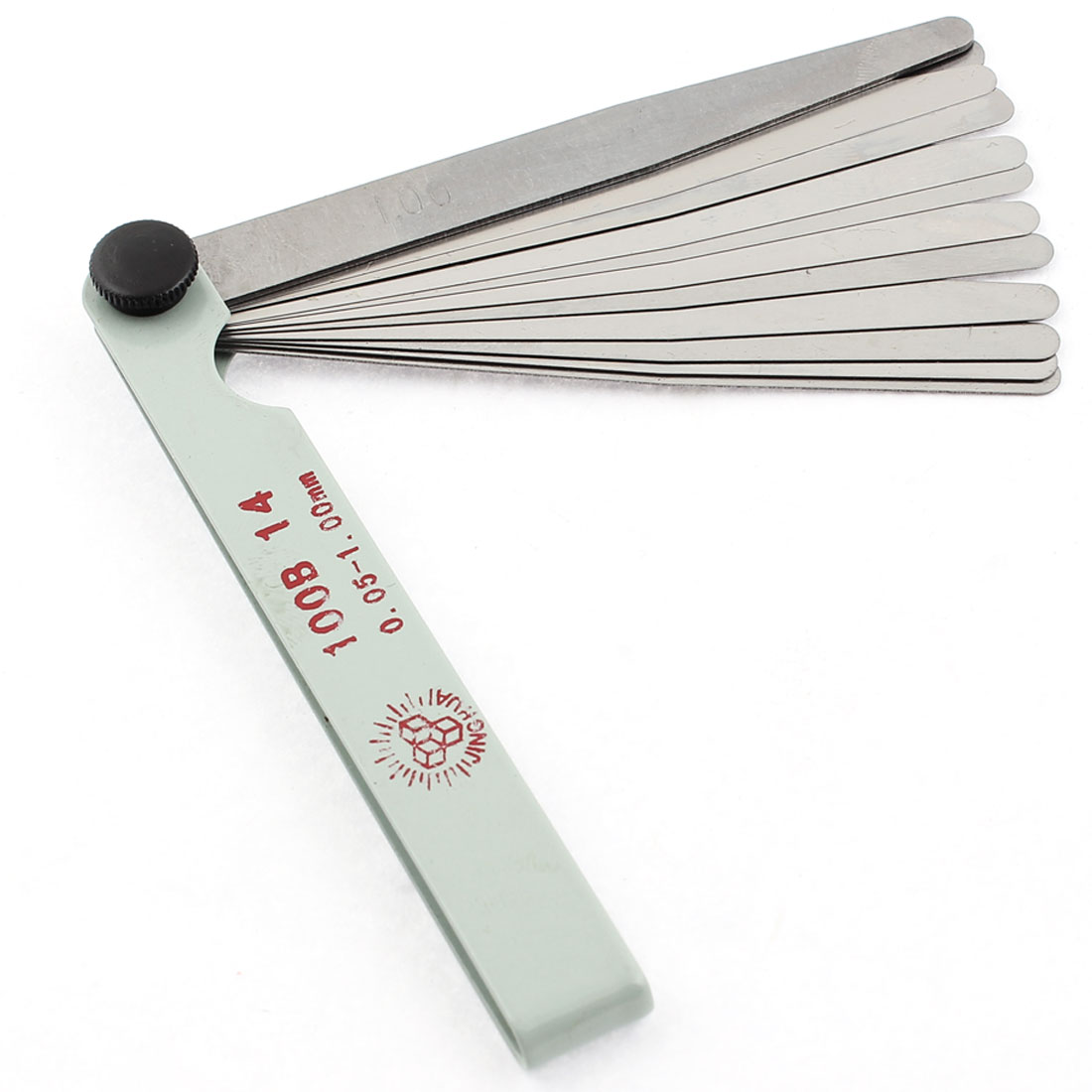 100B-14 0.05-1.00mm Thickness 14 Leave Measuring Tool Feeler Filler Gauge