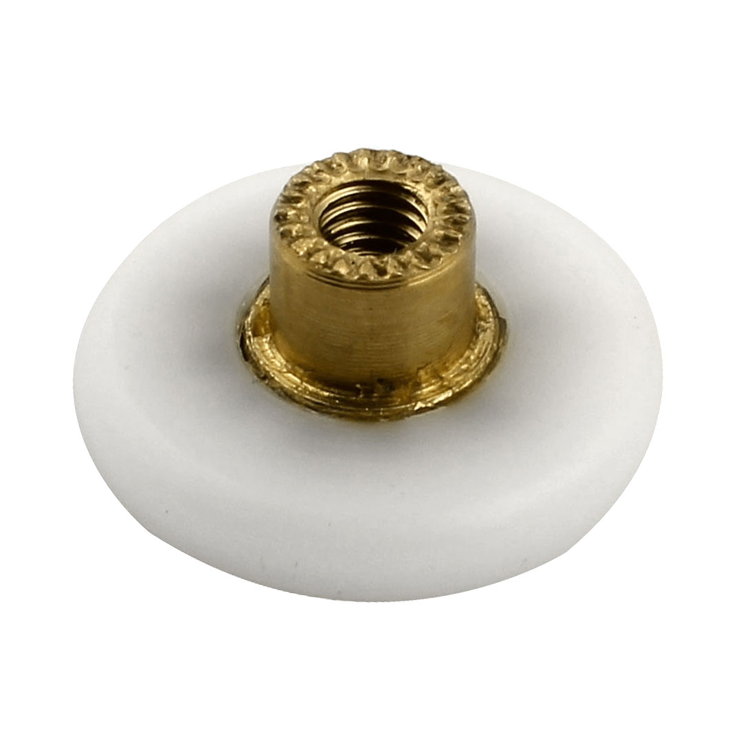 Home Shower Bath Door 4mm Female Thread Runner Wheel Pulley Roller White