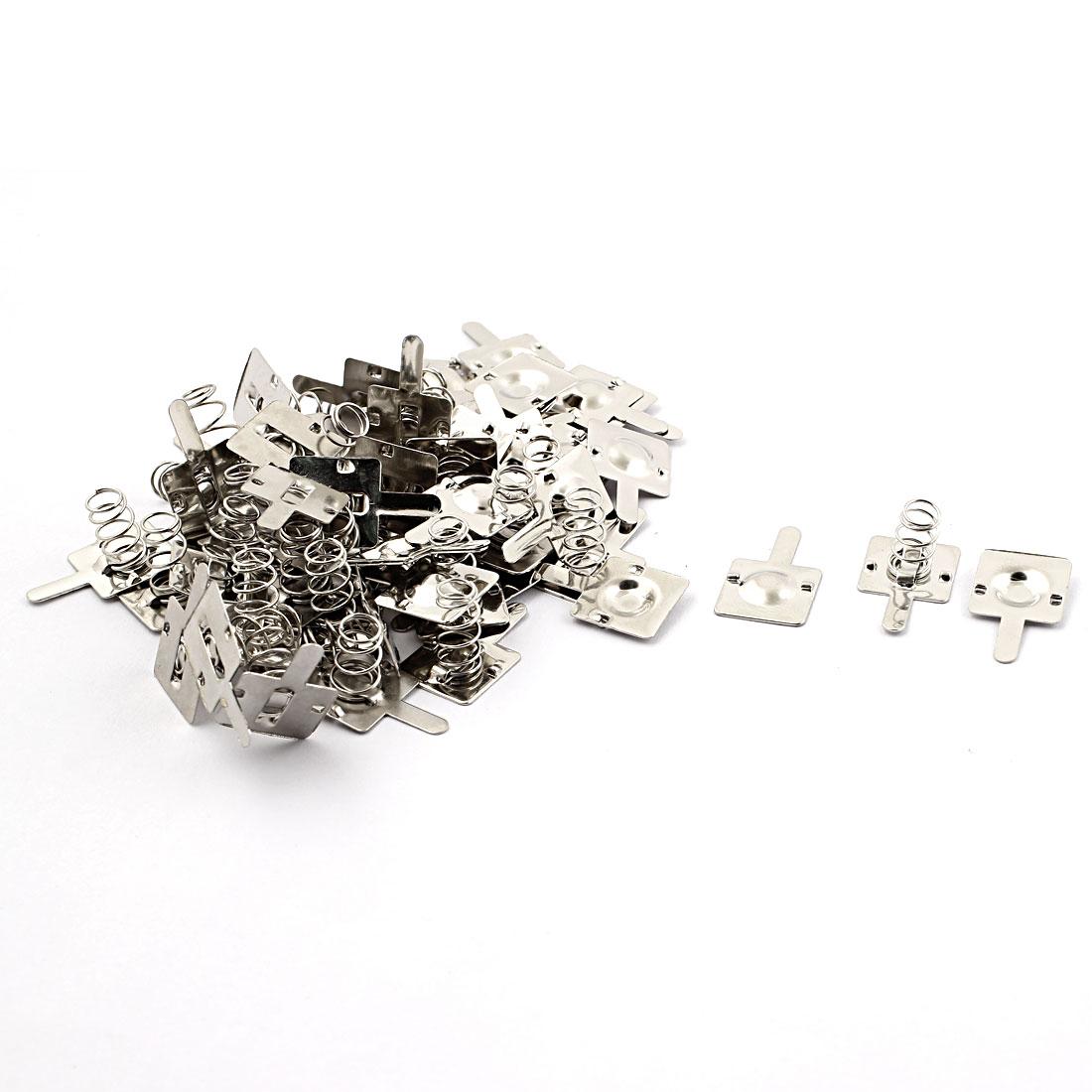 Metal AA Battery Spring Contact Lamination Plate Terminal Silver Tone 30pcs