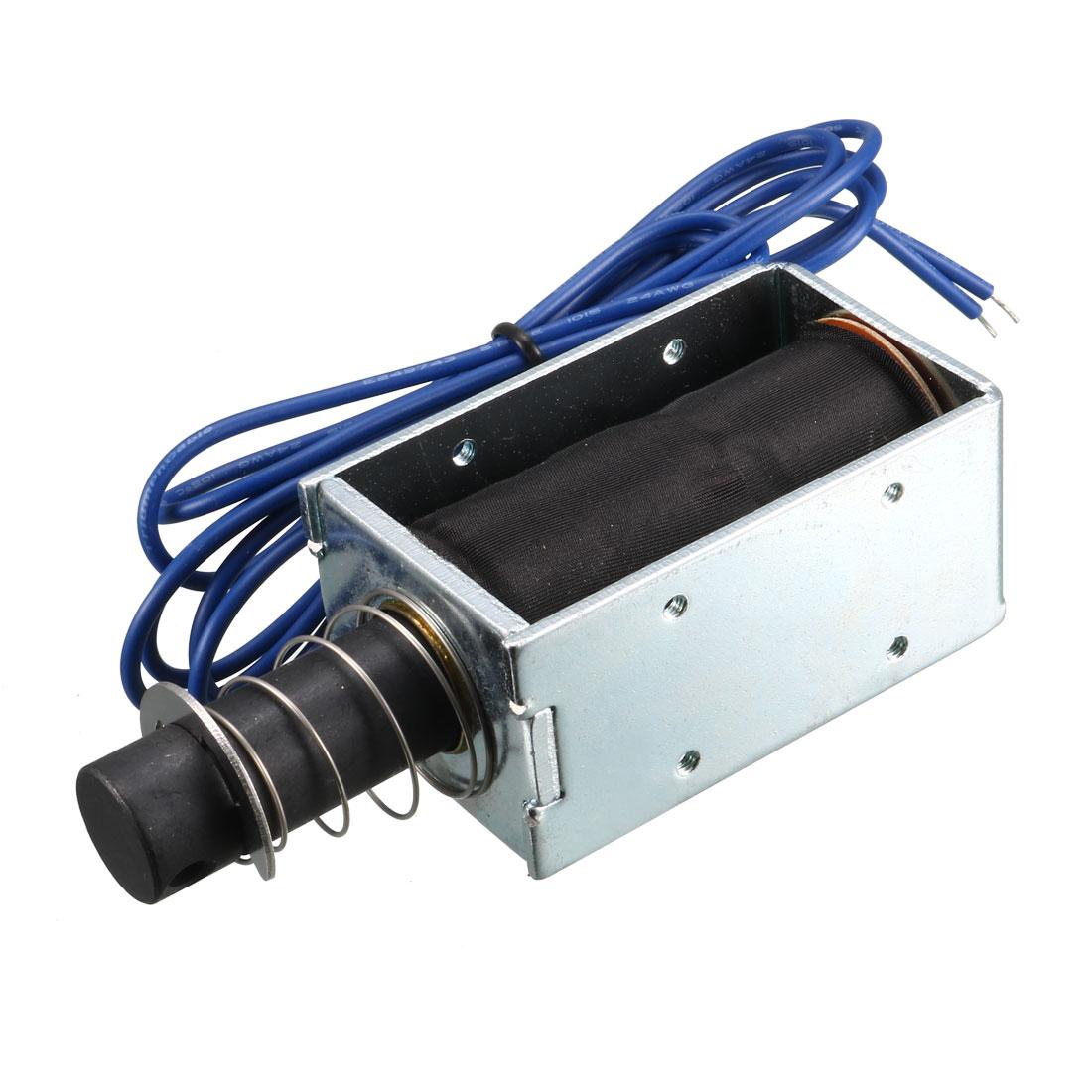 DC 12V 1.5A 500g/15mm Pull Push Type Open Frame Solenoid Electromagnet
