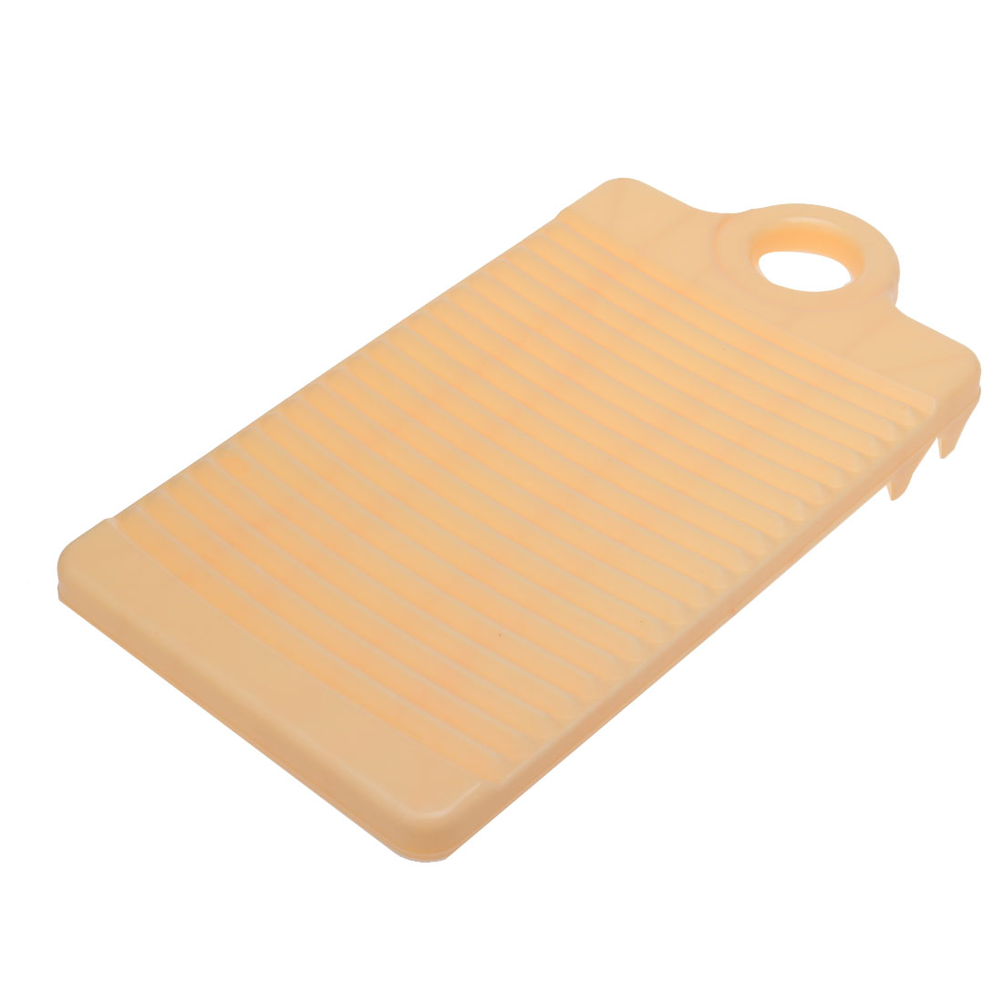 32cm Long Plastic Rectangle Washboard Washing Clothes Laundry Board Beige