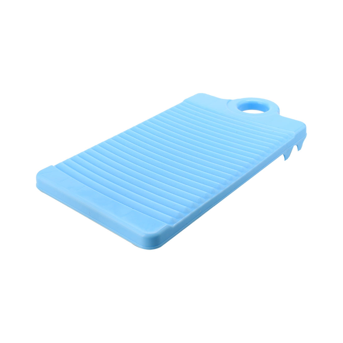 32cm Long Plastic Rectangle Washboard Washing Clothes Laundry Board Blue