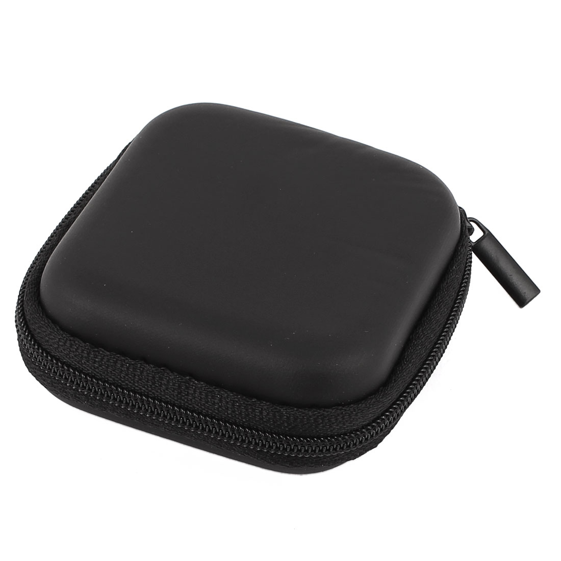 Earphone Cellphone Headphone Headset Earbuds Square Carrying Hold Case Pouch Storage Bag Box Pocket Black
