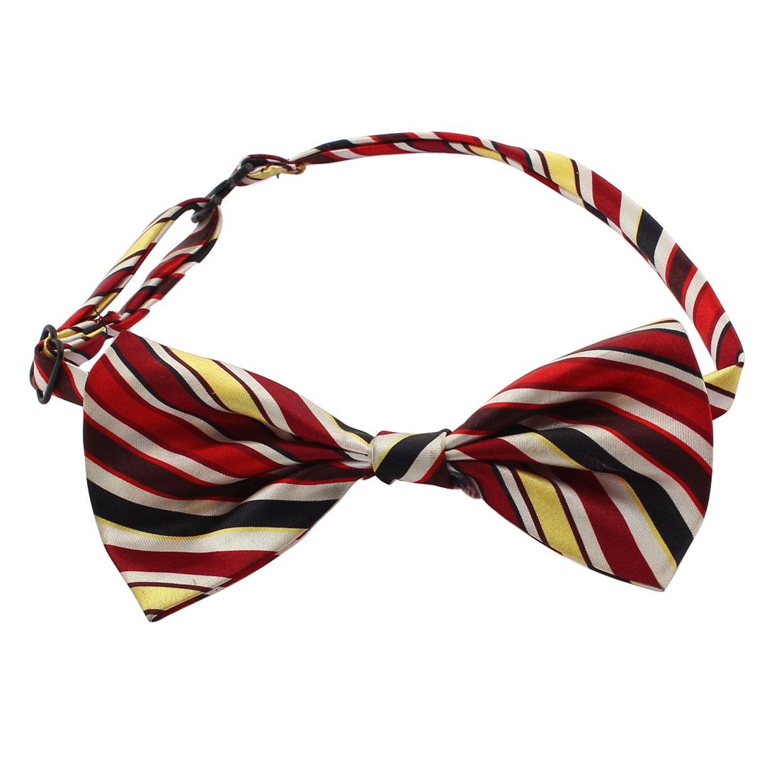 Pet Dog Puppy Striped Pattern Adjustable Strap Bow Tie Bowtie Necktie Collar
