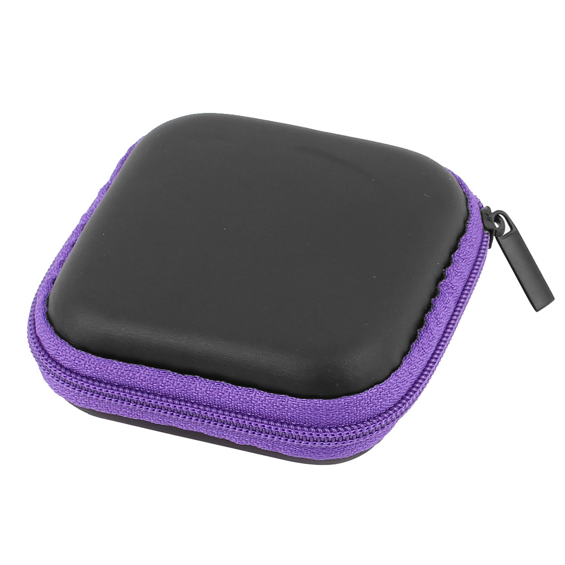 Earphone Cellphone Headphone Headset Earbuds Square Carrying Hold Case Pouch Storage Bag Box Pocket Purple