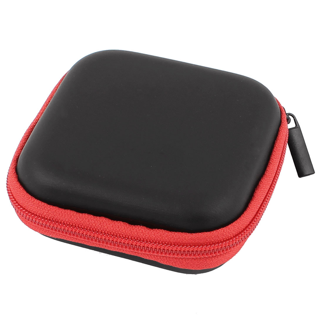 Earphone Cellphone Headphone Headset Earbuds Square Carrying Hold Case Pouch Storage Bag Box Pocket Red