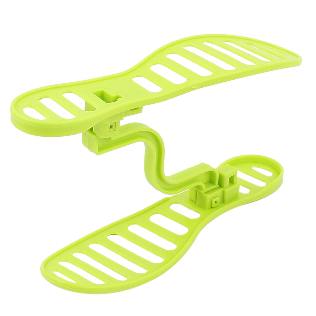 Home Family Feet Design Adjustable Shoes Double Dimensional Stand Rack Shelf Holder Stacking Organizer Green