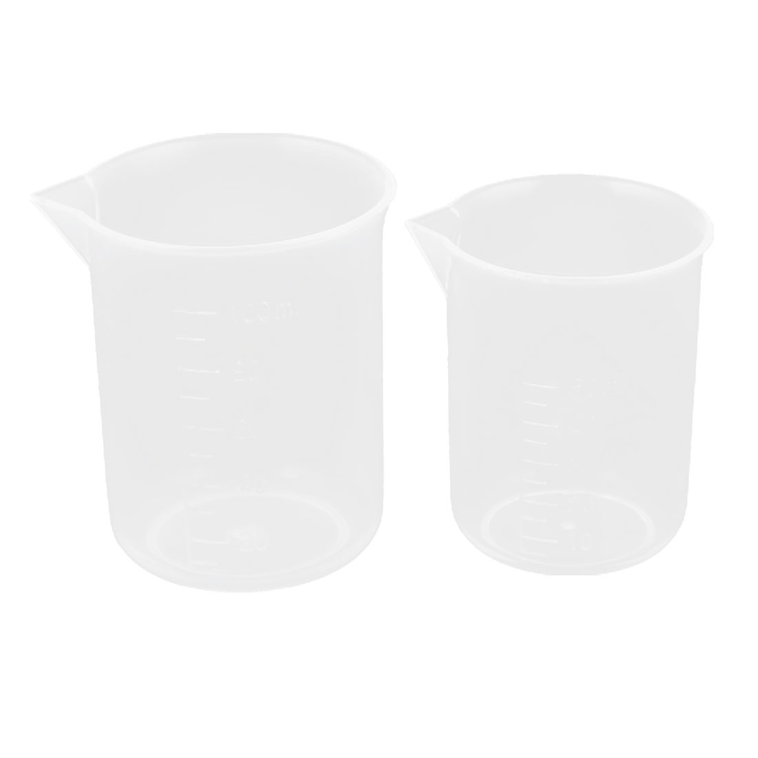2 in 1 50ml 100ml Capacity Plastic Graduated Water Liquid Measuring Beaker Testing Cup Mug