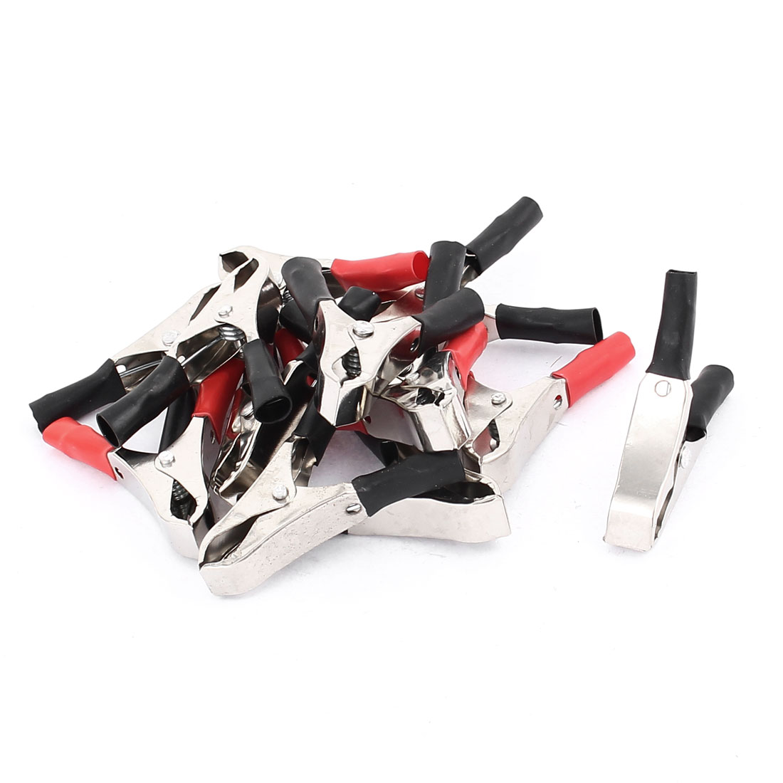 Car Battery Test Insulated Boot Spring Loaded Crocodile Alligator Clamp Clip Black Red 13pcs