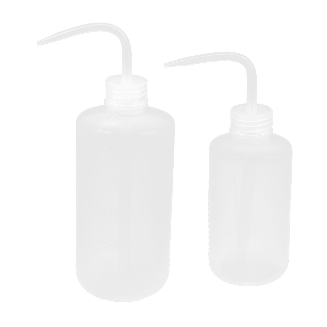 500mL 250mL Capacity Plastic Bent Tip Liquid Water Squeeze Measuring Bottle 2 in 1