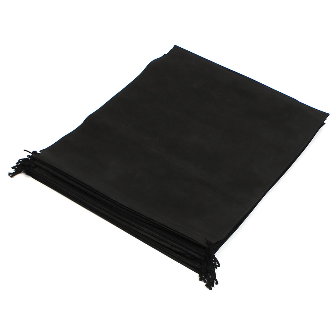 10pcs Black Non-woven Fabric Dustproof Clothes Suit Dust Cover Protector Storage Bag