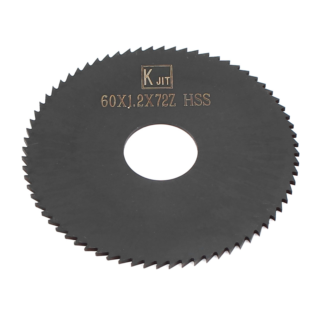 60mm x 1.2mm x 16mm Black HSS 72T Slitting Slotting Saw Cutter Cutting Tool