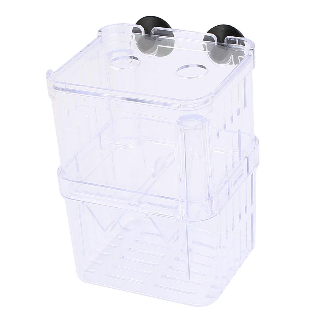 Clear Plastic Retangle Shape Isolation Self Floating Double-deck Divider for Fishbowl Aquarium