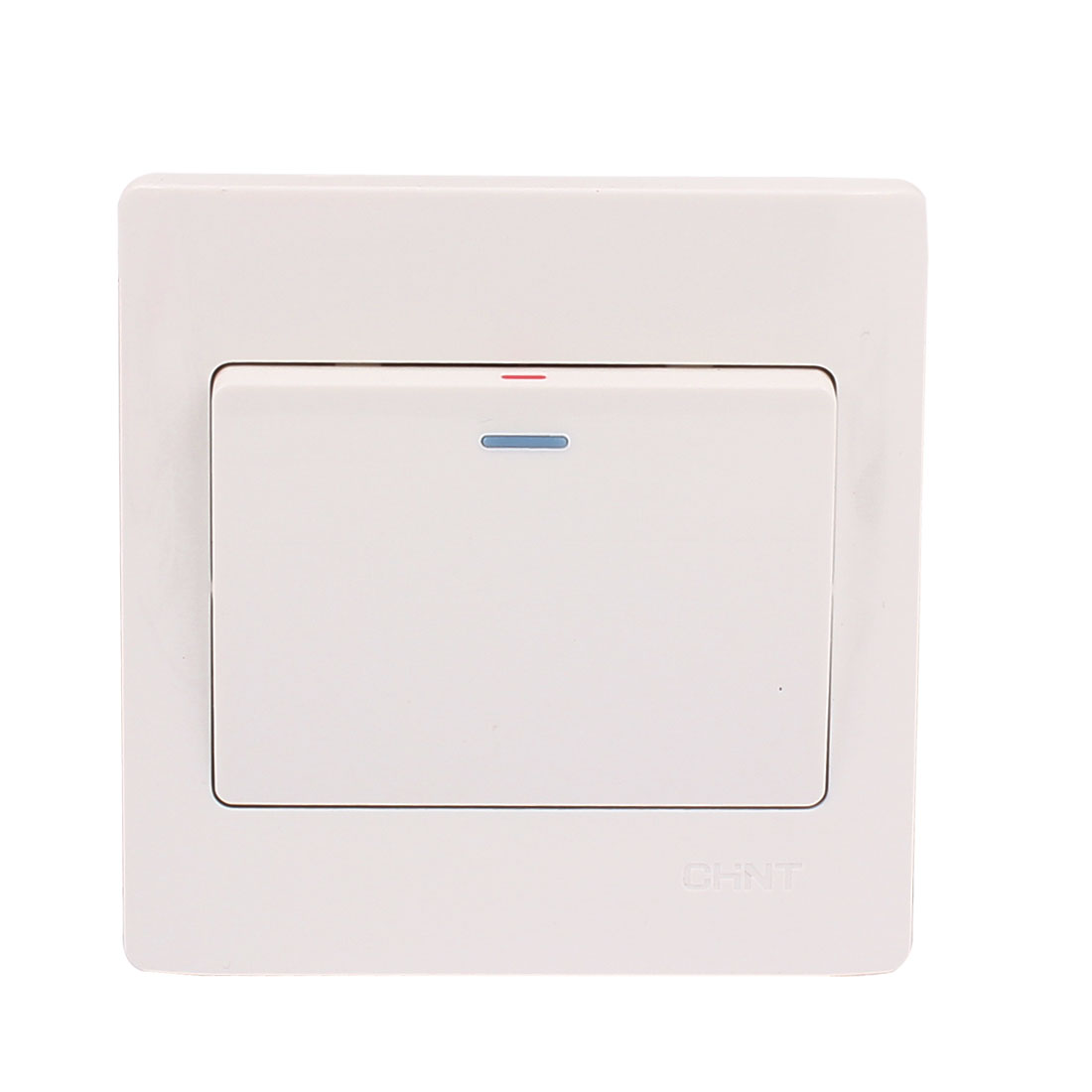 White On/Off Press Button Single Gang Wall Mount Light Control Switch Plate AC 250V 10A