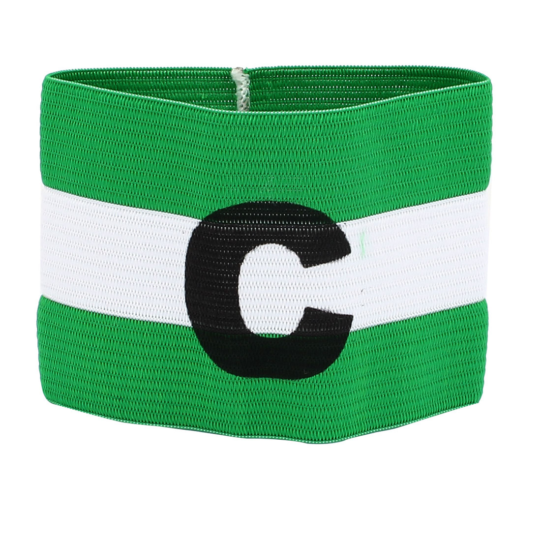Green Black Letter C Printed Stretchy Football Soccer Traning Match Captain Armband Badge
