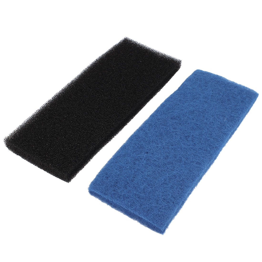 2pcs 32cm x 12cm x 2cm Black Blue Fresh Water Filter Sponge Block Pad for Aquarium Fishbowl