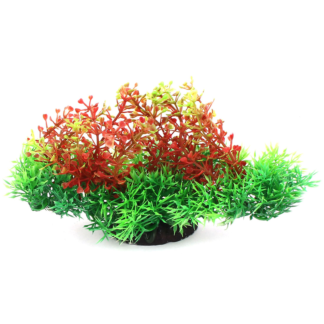 Green Red Plastic Artifical Aquarium Plant Underwater Grass Decor for Fishbowl Fish Tank