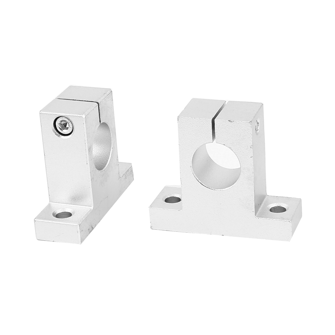 2pcs SK20 20mm Dia Hole Linear Rail Shaft Clamping Guide Support for Milling Machine