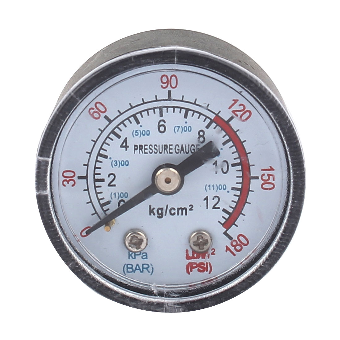 Air Compressor 1/8BSP Male Threaded Round Dial 0-12 Bar 0-180PSI Pressure Gauge Manometer
