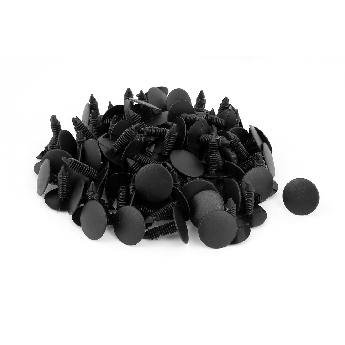 Plastic Push in Rivets Fastener Car Auto Door Fender Bumper Clip Clamp Black 100pcs