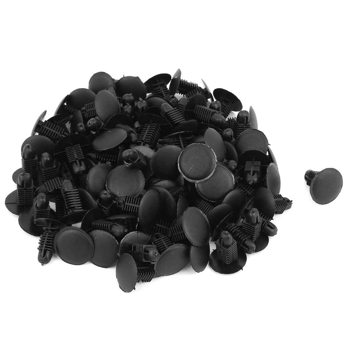 Plastic Push in Type Rivets Fastener Car Auto Fender Bumper Clip Clamp Black 100pcs