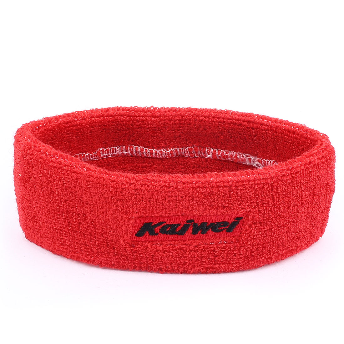 Outdoor Sports Terry Elastic Fabric Tennis Runner Yoga Bathing Spa Headband Hair Band Red