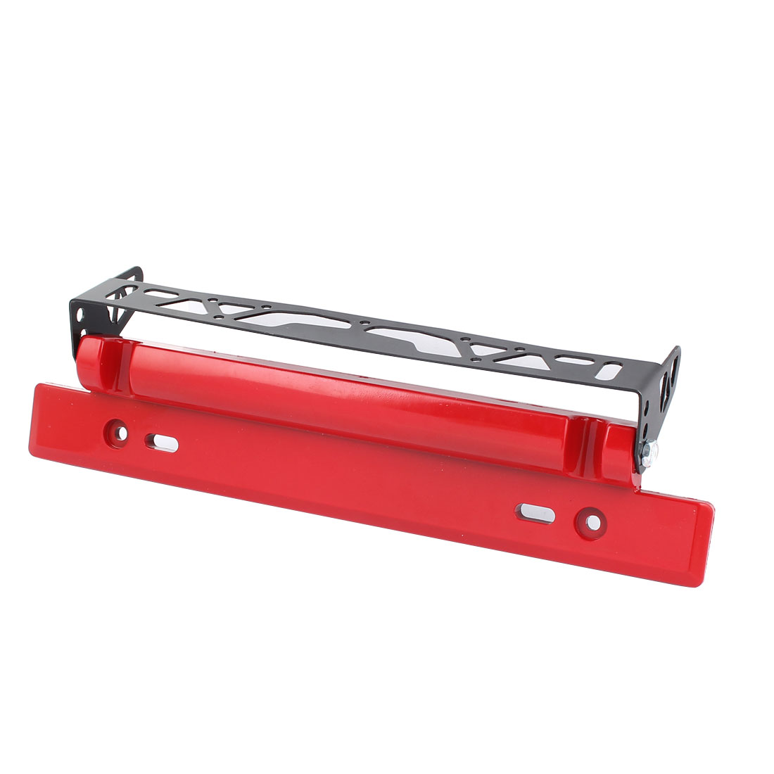 Black Red Plastic Adjustable Number License Plate Bracket Frame Holder for Auto Car Vehicle