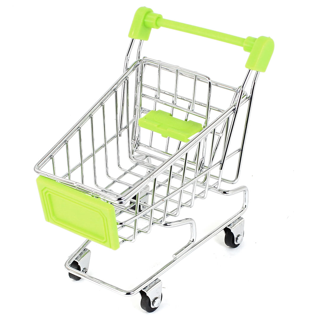 "Metal Mini Trolley Model Removable Storage Rack 4"" High Green"