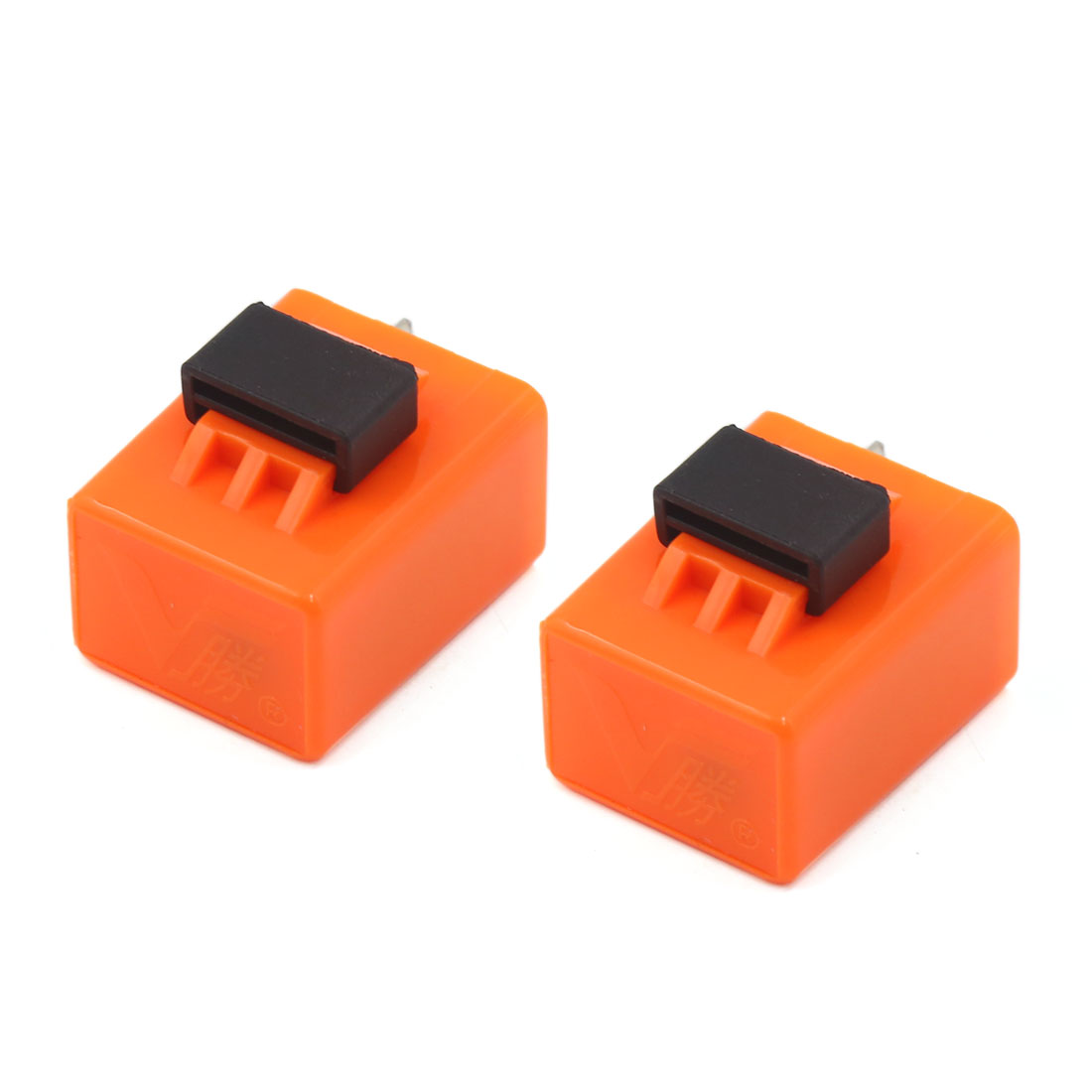 12V 2 Pins LED Flasher Relay Fix Motorcycle Light Hyper Flash Orange 2pcs