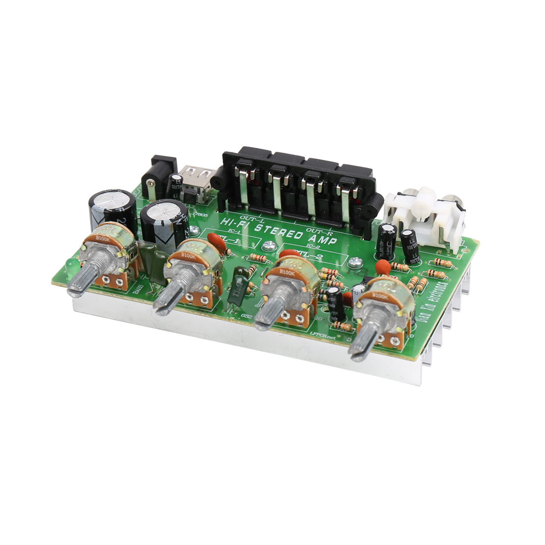 DC 12V-15V 200W LFE Hi-Fi Audio Stereo Power Amplifier Board for Car Vehicle