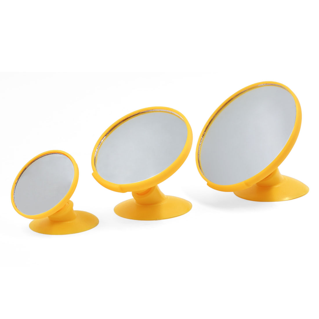 3PCS 360 Degree Rotatable Car Interior Blind Spot Rear View Mirror w Suction Cup