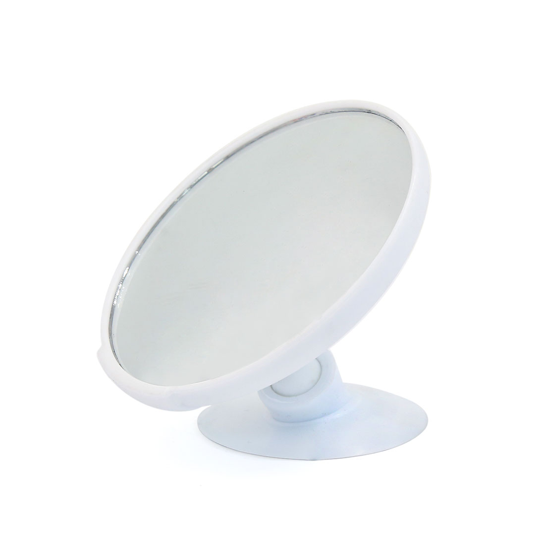 Universal 90mm Dia Convex Wide Angle Car Interior Blind Spot Rear View Suction Mirror White