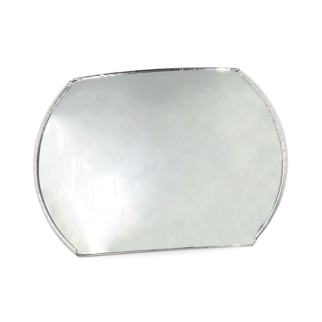Chrome Plastic Shell Stick-on Convex Wide Angle Blind Spot Mirror for Car Auto